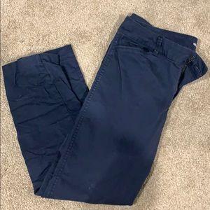 Old Navy Navy blue pixie khakis